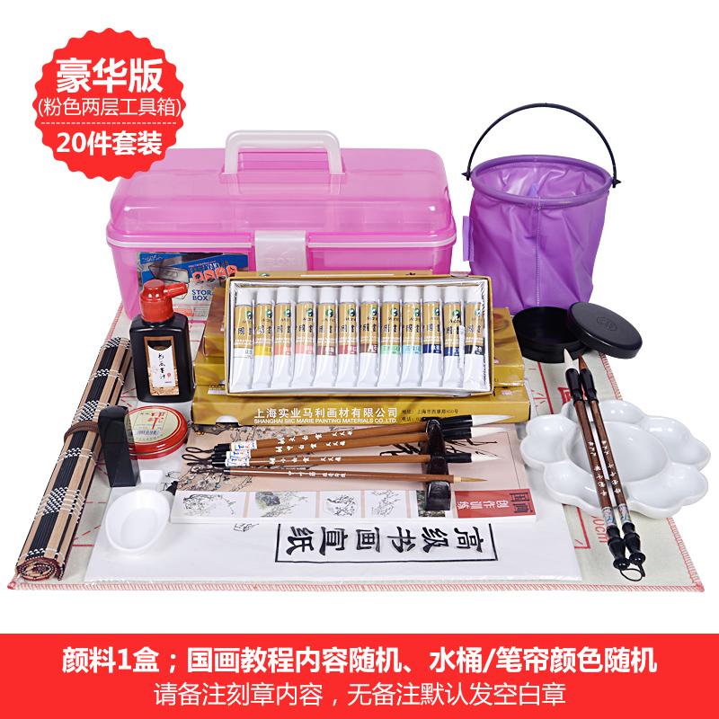 Gli studenti adulti il dipinto di attrezzi 20 Pezzi di entrata per i prodotti pigmenti spazzola dipinto baiyun