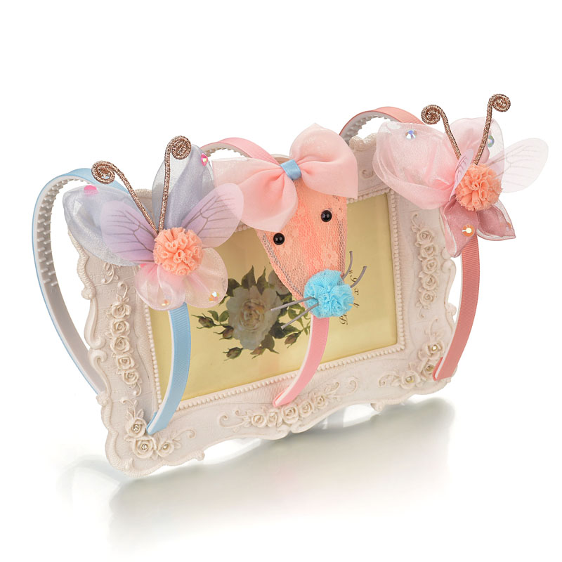 Children's hair bow hair ornaments hair with teeth lovely baby princess headdress cave girls head hoop hair clip