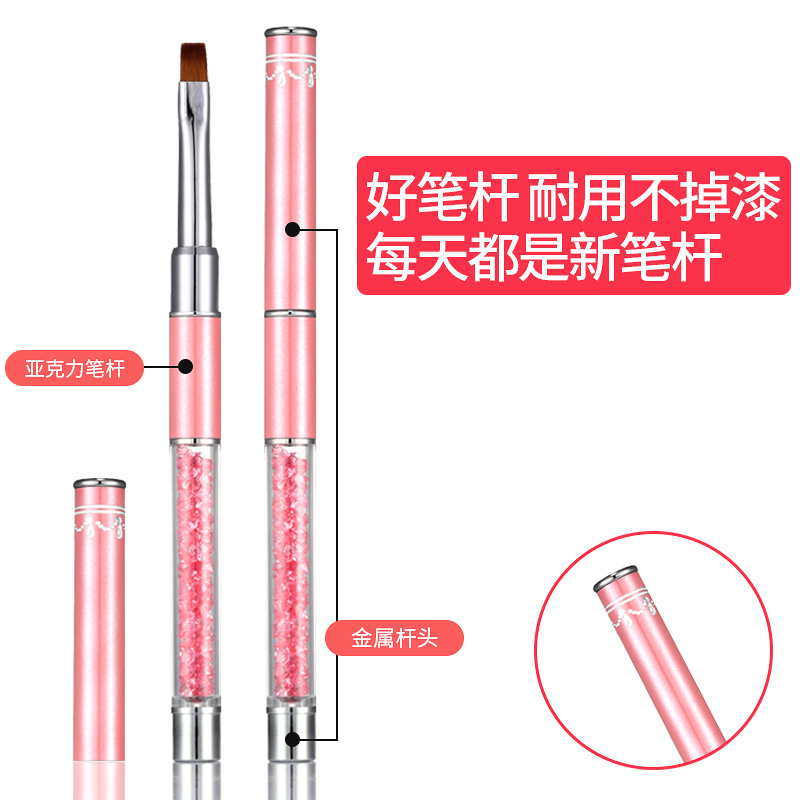 Red nail nail pen, beginner's color painting, flower pen carving, crystal cable, single nail kit brush set