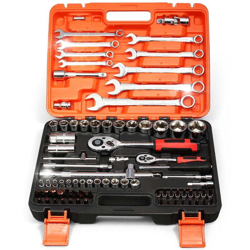 Auto repair auto tool kit kit hardware repair tools ratchet wrench set of tyres maintenance