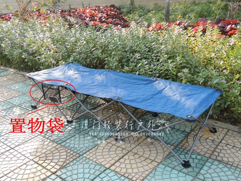 Outdoor folding bed, folding chair, single bed, lunch break bed, office nap bed, marching bed, simple lunch chair