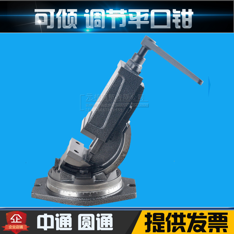 Tilting angle fixed clamp milling machine with taper angle type vise vise 4 inch 6 inch shipping