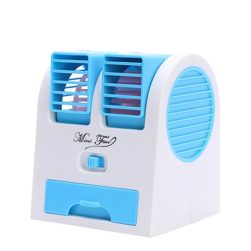 La refrigeración en verano creativo pequeño mini sin hojas de refrigeración y aire acondicionado ventilador eléctrico de refrigeración de aire fresco en el mudo de escritorio