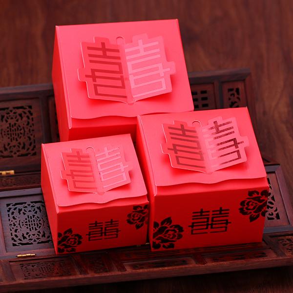 Cajas de papel europeo al matrimonio creativo caja bolsa de dulces de azúcar de la boda caramelos dulces caja de embalaje de artículos de boda