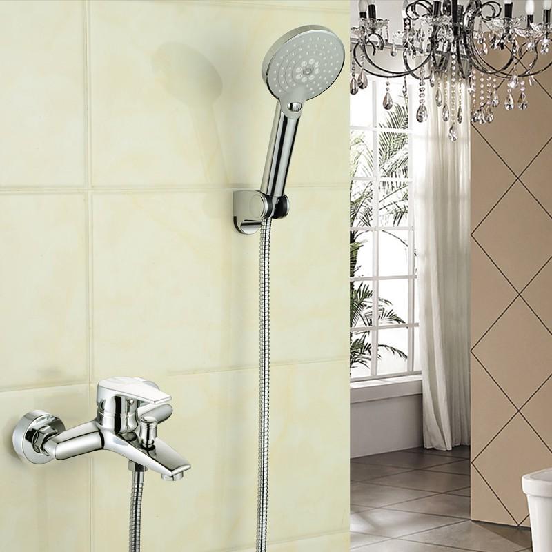 Oculta la instalación de ducha ducha ducha de agua fría y caliente la mezcla de la válvula de la ducha baño a la válvula de cobre