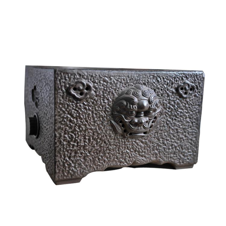Demandé l'ancien Zhai Lao Mud carré électrique en céramique muet Allemagne importé ménage thé maker fer pot argent cuivre bouilloire thé poêle