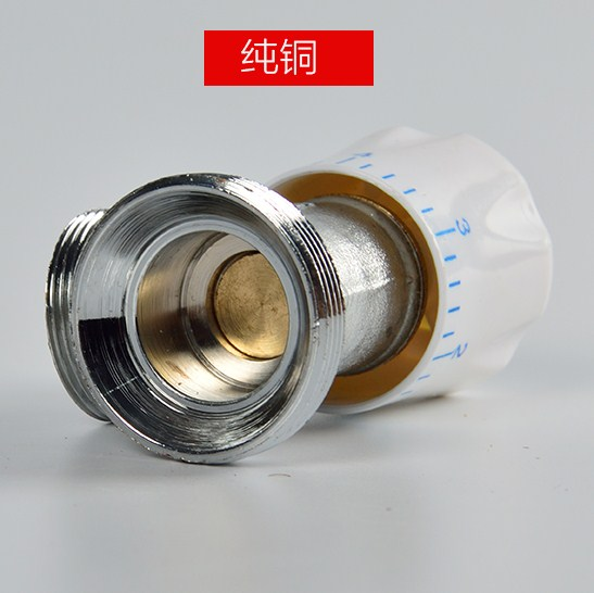 Valve temperature control radiator radiator special angle valve solenoid valve switch, gas pipeline constant pressure fittings brass
