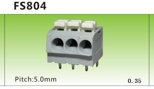 L'espacement de sous - f804-5.0mm Reyes de connexion de borne de câblage de type ressort