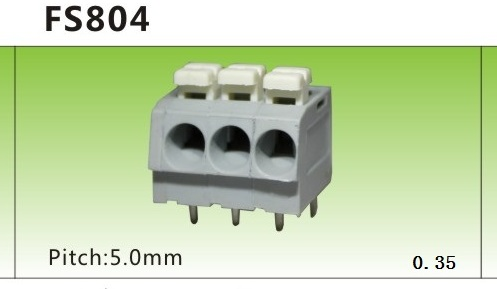 aumix ledninger mizuko f804-5.0mm afstand til foråret type ledninger terminal