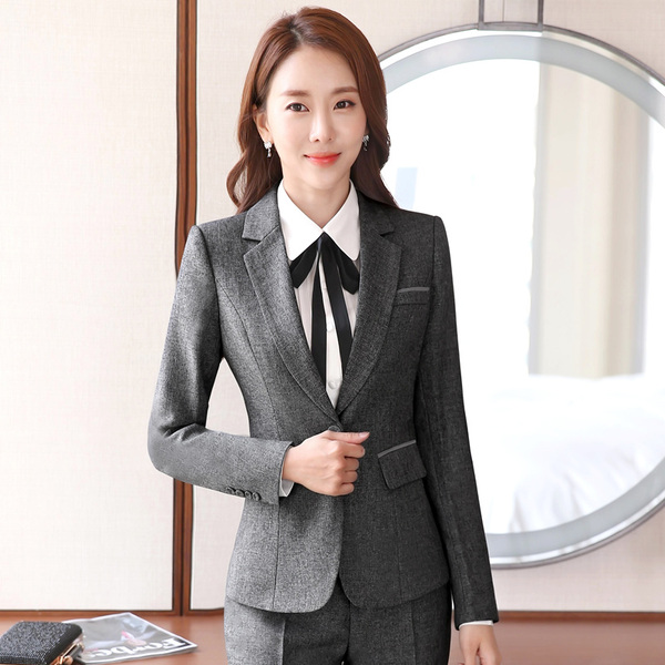 Spring professional dress women's suit vest long-sleeved suit three interview dresses work clothes temperament overalls
