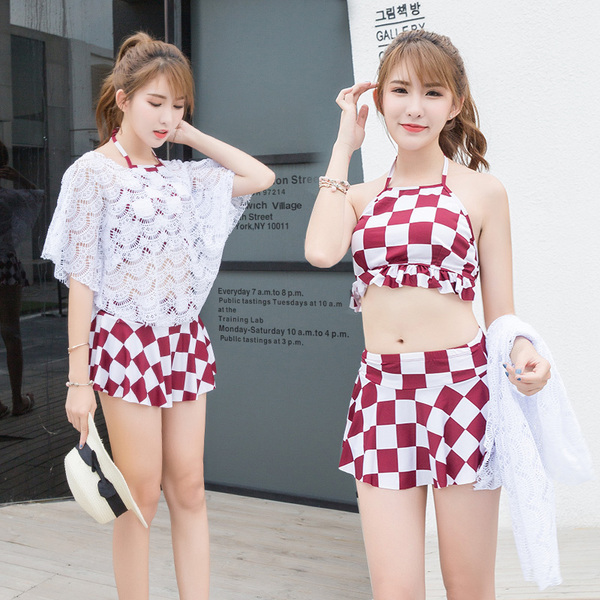 Every day special women fashion swimwear sexy lips are thin three-piece set of Korean Slim flat female swimsuit