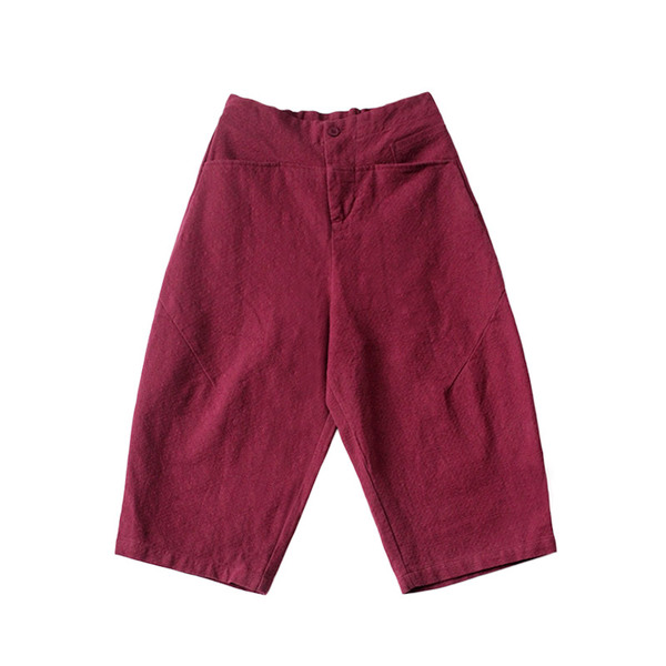 可然出品·紅與黑/棉麻寬松闊腿褲【9.12秋新品】