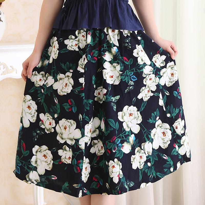 新品松紧腰半身裙