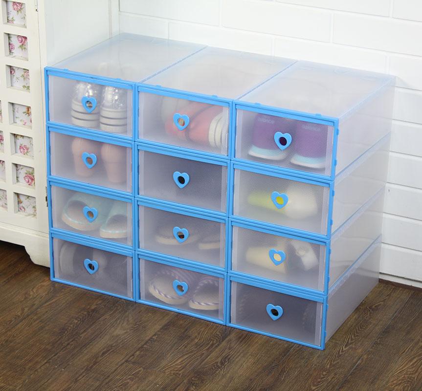 新款加大加厚塑料包边透明鞋盒抽屉式鞋子收纳盒组合鞋柜全国包邮-淘宝网全球站