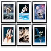 Space Themed Framed Posters