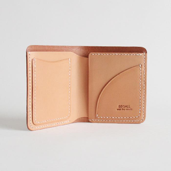 原创真皮手工短款个性钱包植鞣皮卡包
