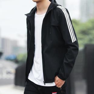 男士春款连帽夹克外套