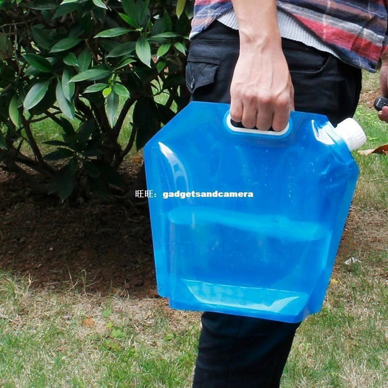 hot 5l folding water storage bag lightweight plastic collaps