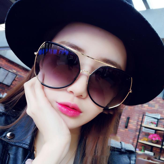 加大框太阳镜女士圆脸显瘦2019韩版潮前卫开车眼镜情侣个性男墨镜
