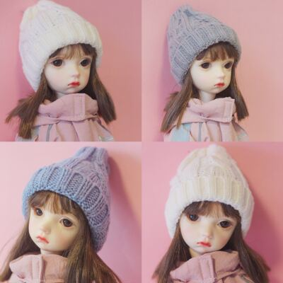 taobao agent Homemade bjd.yosd. 6 points 4 points 1/6 doll knitted wool hat baby clothes accessories wild headdress