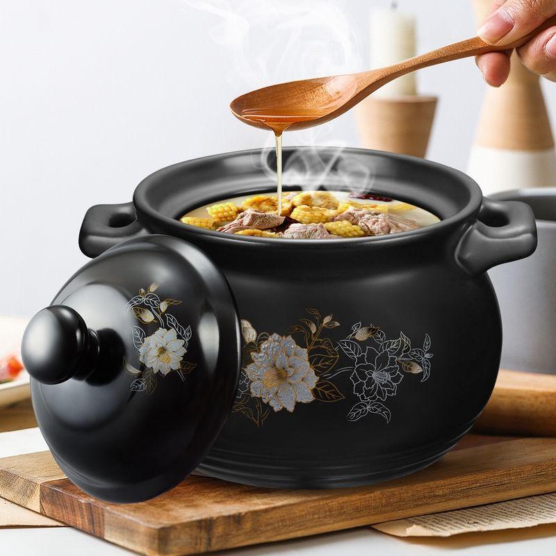 砂锅耐高温养生汤煲陶瓷小沙锅煲汤粥锅明火燃气炖锅煲仔石锅家用