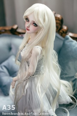 taobao agent Spot A35 BJD doll high temperature silk wig 3 points 4 points giant baby princess long curly hair three tops