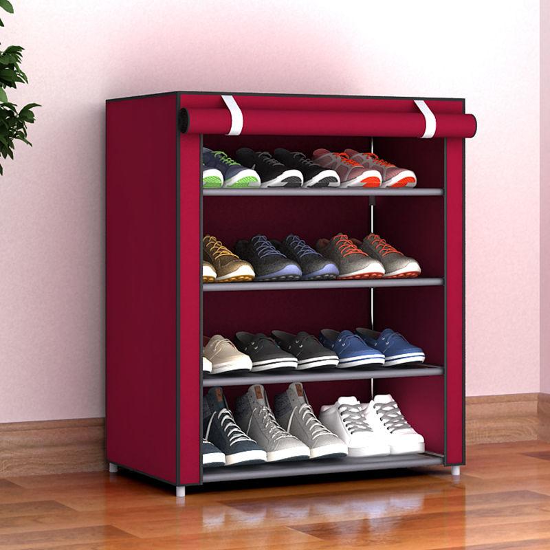 家用宿舍多层防尘省空间收纳简易鞋架