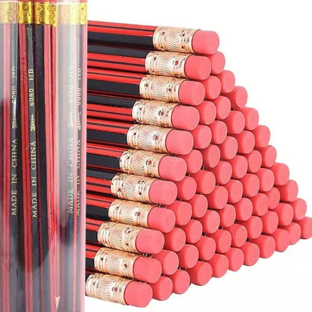 30支罐装HB铅笔小学生练字写作业六角铅笔不易断儿童幼儿文具用品
