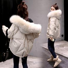 实拍棉衣/棉服2018冬季时尚气质面包服长袖连帽韩板