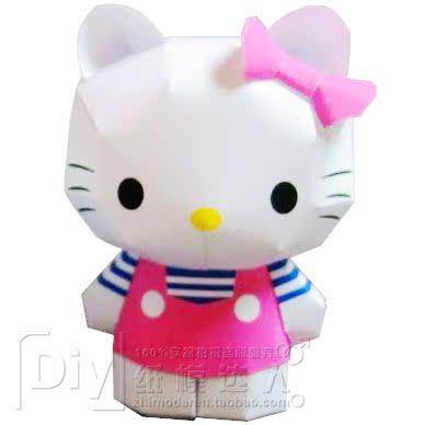 mô hình giấy Hello Kitty 3D lắp ráp bằng tay mô hình giấy món quà sáng tạo Tự làm đầy đủ 68 vận chuyển