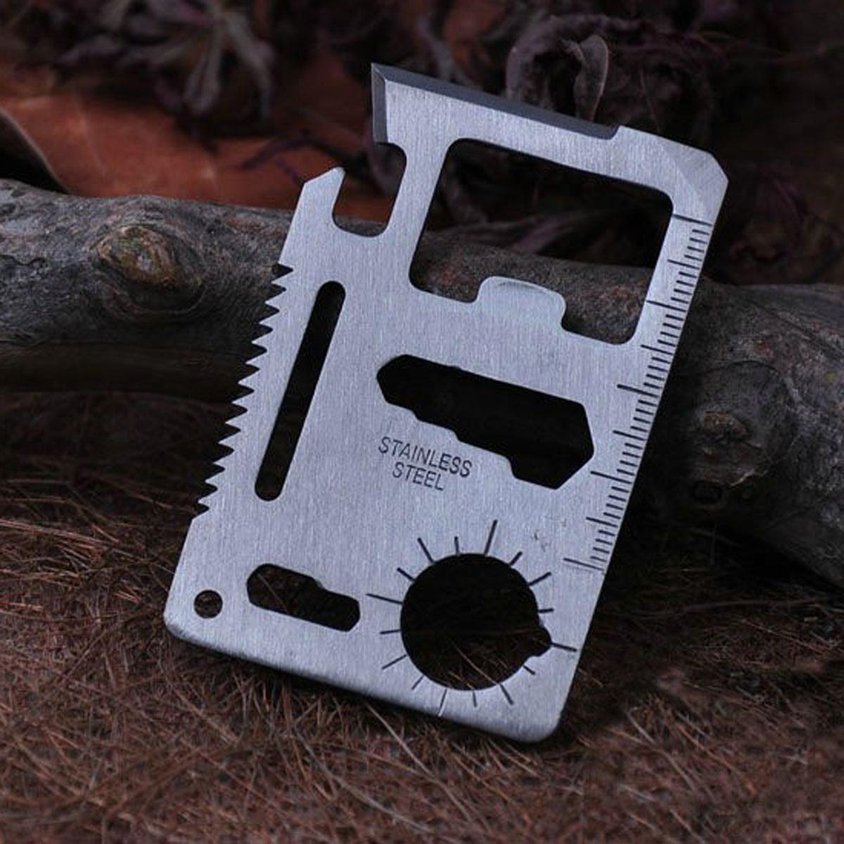 Phổ cắm trại ngoài trời thẻ công cụ quân đội dao thẻ thép đặc biệt đa mục đích công cụ thẻ dao thẻ dao