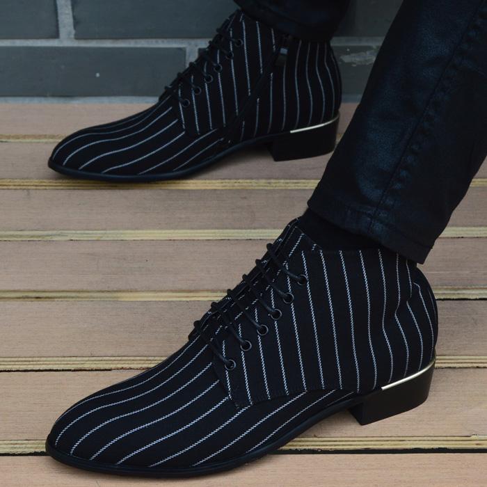 Của nam giới giày thường Martin khởi động Hàn Quốc phiên bản của người Anh chỉ cao-top giày nam booties tăng vải thời trang khởi động