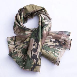 Ngoài trời commando chiến thuật khăn đích thực người đàn ông và phụ nữ quân đội fan ngụy trang vuông khăn ngụy trang cát- bằng chứng nhanh chóng làm khô lưới khăn
