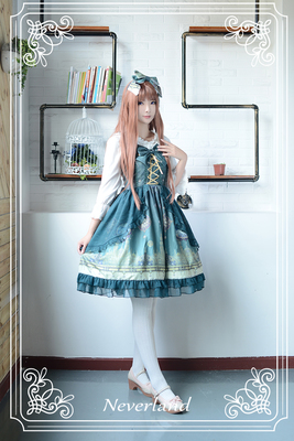 taobao agent Soufflesong exclusive design【The Arabian Nights】lolita with yarn tie sleeveless dress jsk