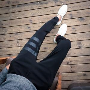 2016秋季 印花 日系卫裤哈伦裤A089-YD00-P35 100%聚酯纤维 蓝