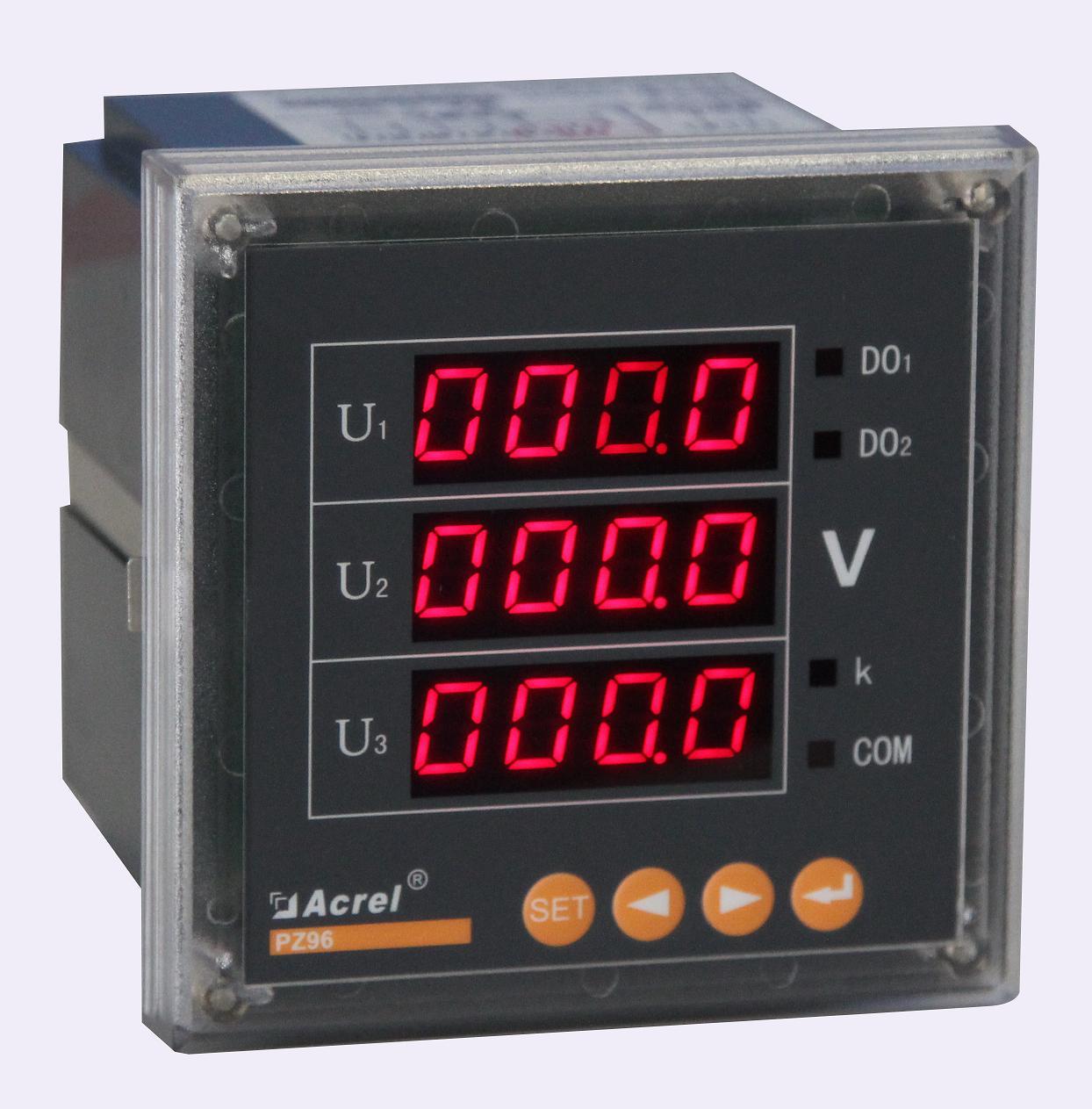 安科瑞厂家PZ72-AV3/KC 三相电压表 数码显示 开关量 RS485通讯