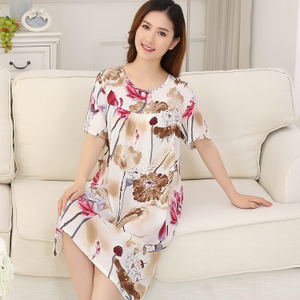 夏季韩版薄款绵绸家居服睡裙