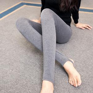实拍春薄款打底裤莫代尔九分小脚裤显瘦外穿大码孕妇托腹踩脚长裤