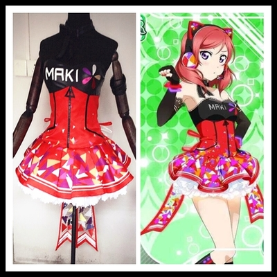taobao agent Spot butterfly home lovelive video game awakening Nishikino Maki cos clothing skirt shoes led