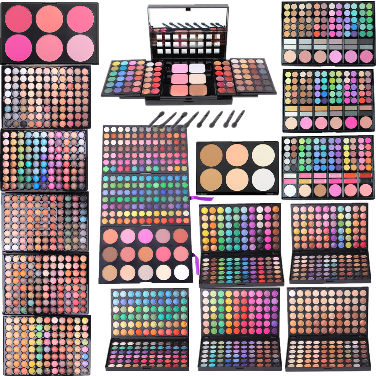 Multicolor 78 Màu 120 183 88 Màu Eyeshadow Palette Sáu Màu Công Suất Sửa Chữa Blush Đĩa Ánh Sáng Ngọc Trai Matte Trang Điểm Palette