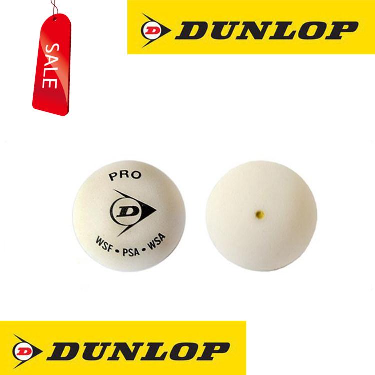 Chính hãng Dunlop Dunlop trắng duy nhất màu vàng điểm squash chuyên nghiệp vợt bóng ro squash bóng kính địa điểm