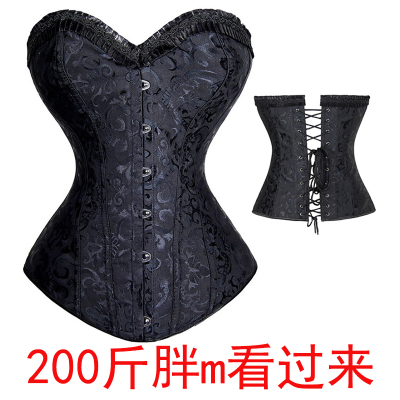 taobao agent Large size sexy tight-fitting pseudo-girl cos underwear corset waist belly men's cd cross-dressing men's corset women's big brother