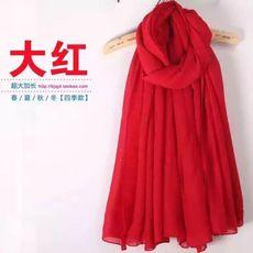 赠品纯色棉麻围巾女冬季围脖两用大披肩长款春秋百搭学生丝巾纱巾