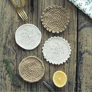 Bông đay coaster vách ngăn pad bảng mat vải sáng tạo các mặt hàng gia dụng vải nền nhiếp ảnh thực phẩm