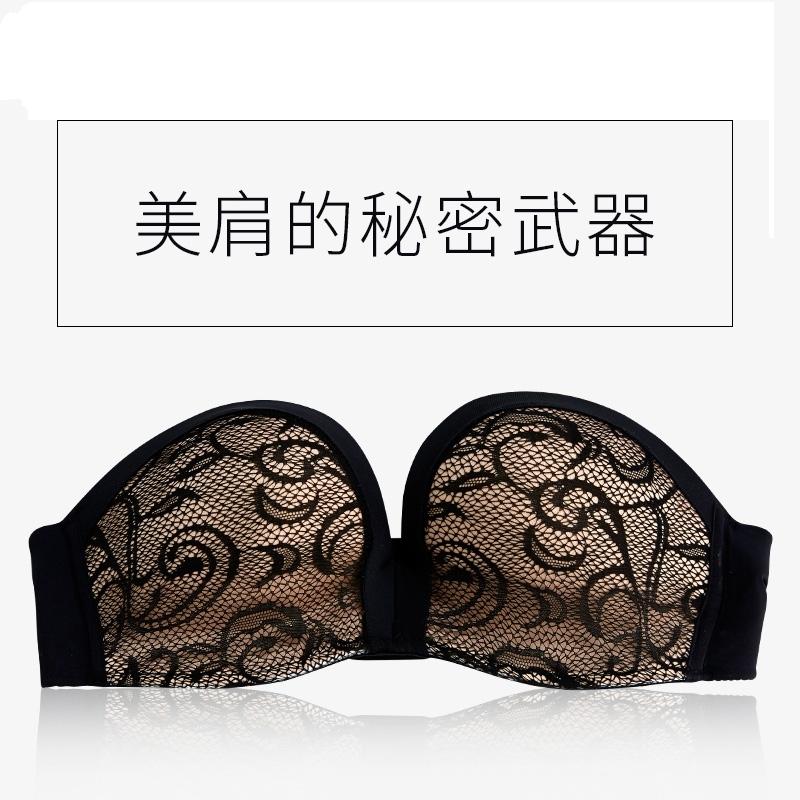 Strapless bra ống đầu bọc ngực tập hợp non-slip trên vẻ đẹp vô hình trở lại ngực nhỏ sexy mỏng đồ lót áo ngực