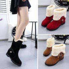 冬季 靴子 保暖中筒靴 休闲 女鞋 A4-A661P58