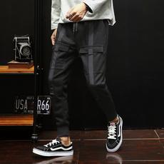 【休闲裤】2018春夏新款男士针织束脚休闲裤 A011-K196*P65