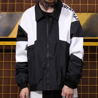 Gốc hip hop street dance thanh niên giải trí thể thao ve áo khâu áo khoác nam giới và phụ nữ vài mô hình sinh viên áo gió triều