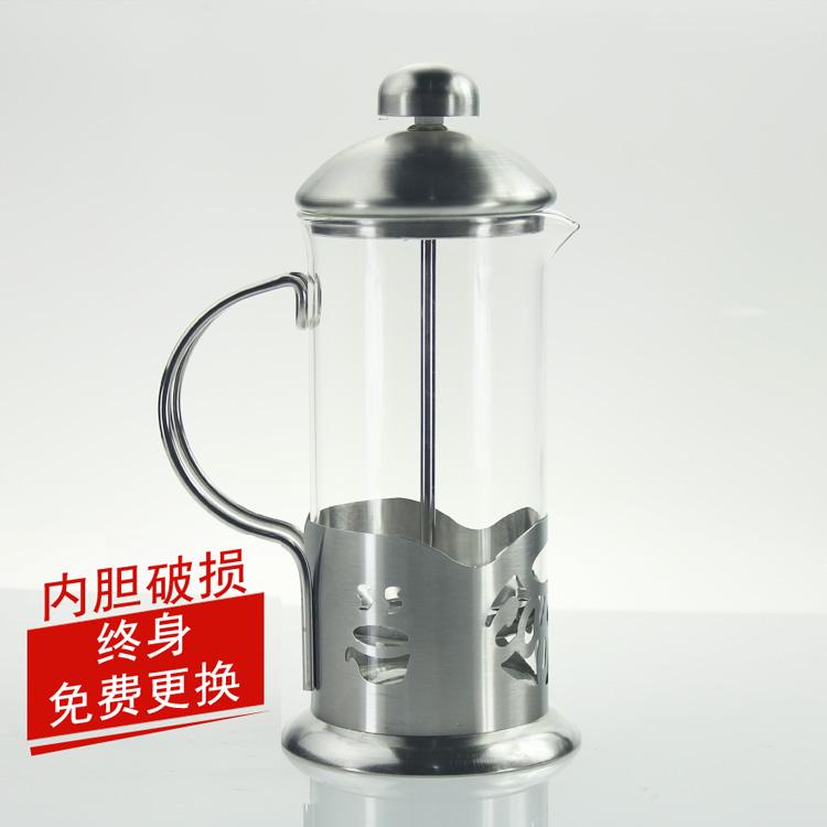 Sản xuất cà phê cà phê áp suất đặc biệt nồi Mỹ đồ dùng cà phê thép không gỉ thủy tinh nồi cà phê 350 ml