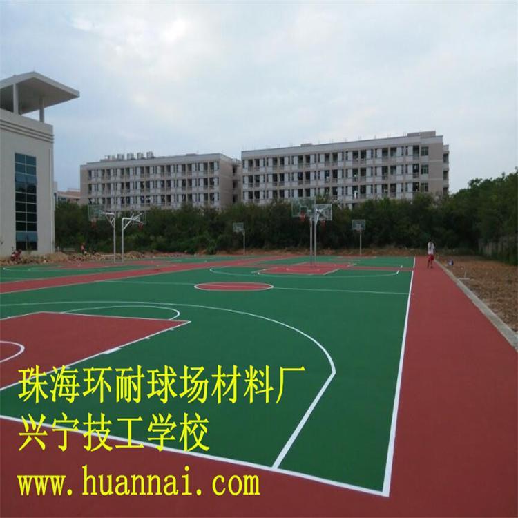 福建塑胶运动地面硅PU球场材料,网球场建设工程报价篮球场翻新